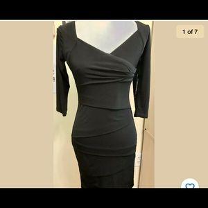 New WHBM Black Instant Slimming Dress